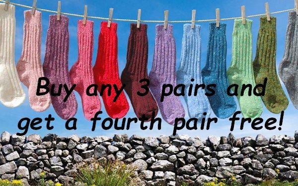 Irish Donegal Tweed Socks Buy 3 Get a Fourth free